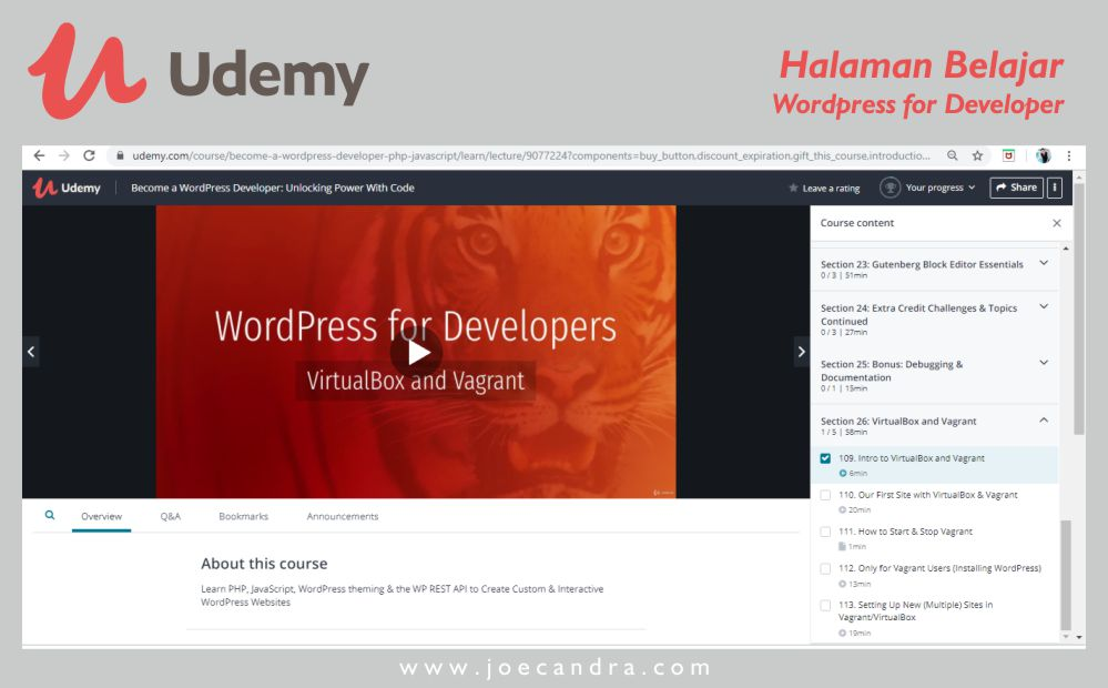 Belajar WordPress for Developer